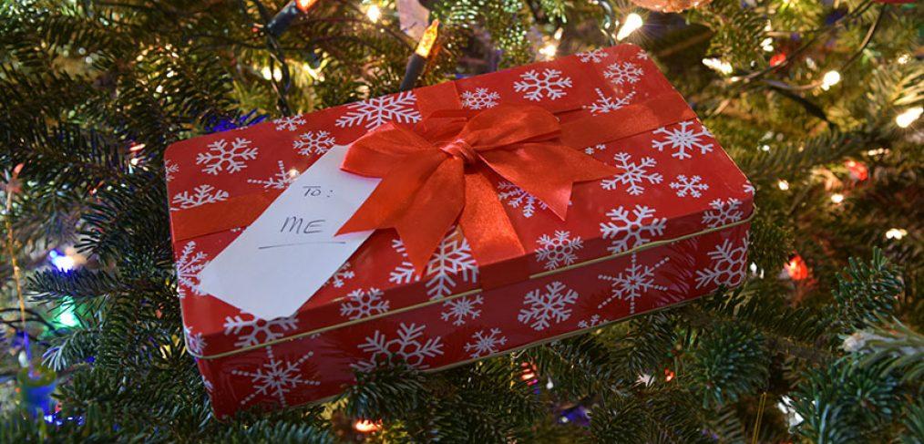 """christmas gift that says """"To Me"""""""