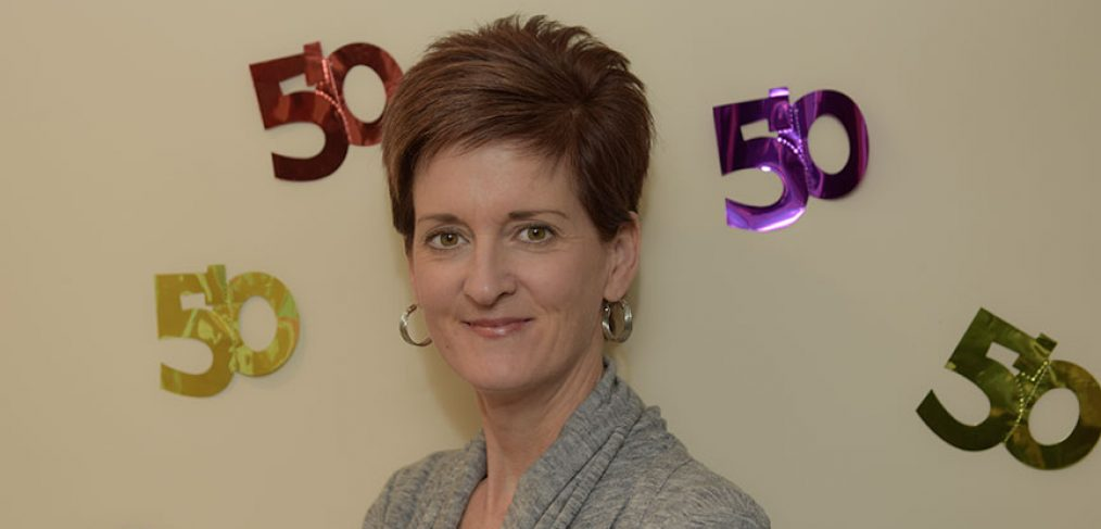 Mary Lou Roe on her 50th birthday